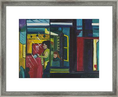 Framed Print featuring the painting Watch The Signs by Patricia Arroyo
