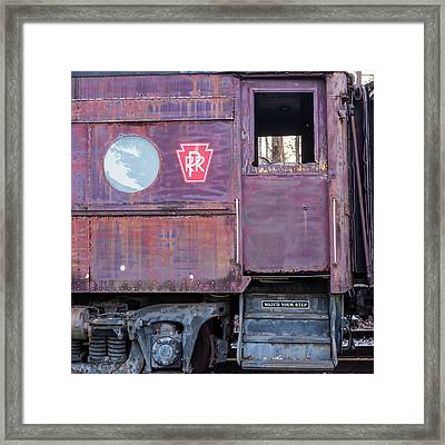 Framed Print featuring the photograph Watch Your Step Vintage Railroad Car by Terry DeLuco