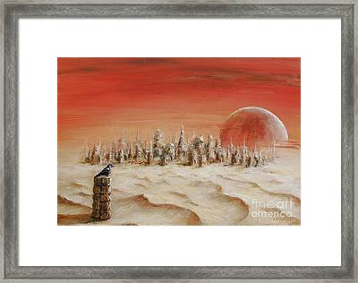Framed Print featuring the painting Watcher by Arturas Slapsys