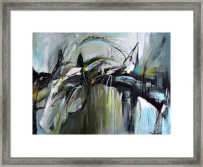 Framed Print featuring the painting Watchful Gaze by Cher Devereaux