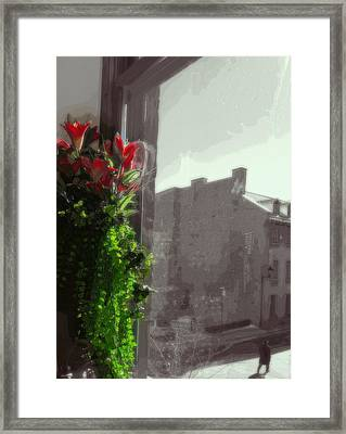 Watching An Old Movie  Framed Print by Nermine Hanna
