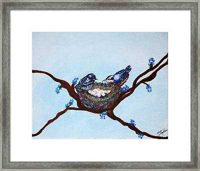 Watching Framed Print by Ann Ingham