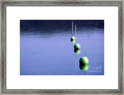 Watching Buoys Framed Print by Lutz Baar