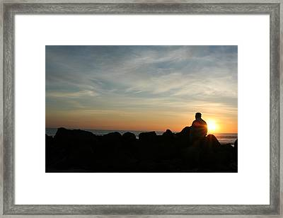 Watching Days End Framed Print by Randy Morehouse