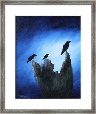 Watching For Company Framed Print by Rebecca  Fitchett