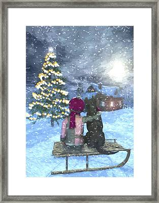 Watching For Santa Framed Print