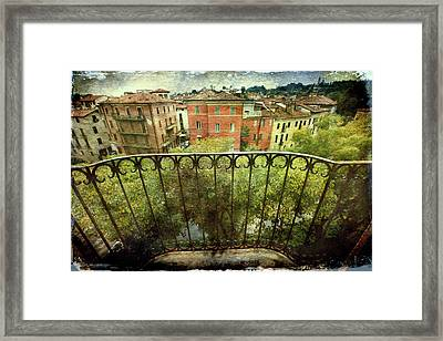 Watching From The Balcony Framed Print