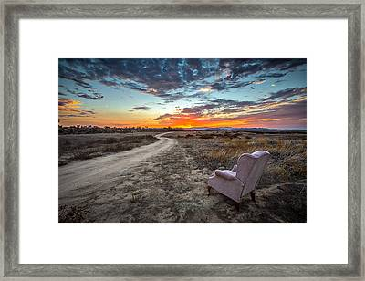 Watching My Shows Framed Print by Peter Tellone