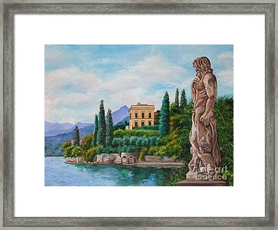 Watching Over Lake Como Framed Print by Charlotte Blanchard