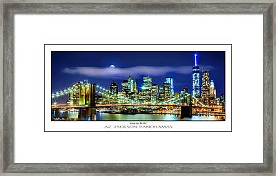 Watching Over New York Poster Print Framed Print by Az Jackson