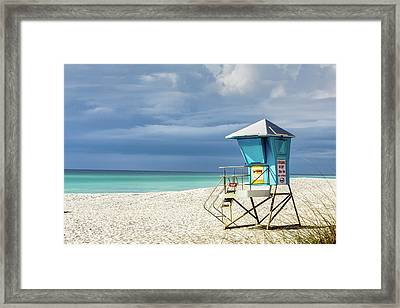 Lifeguard Tower Florida Gulf Coast Framed Print