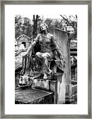 Watching Over You In Paris Framed Print