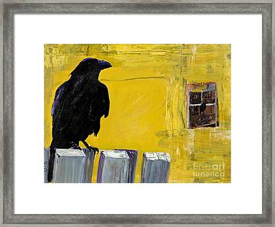 Watching Framed Print by Pat Saunders-White