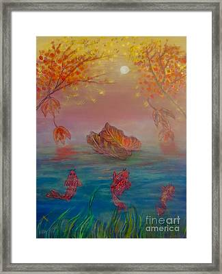 Watching The Dance Of The Fallen Elements Framed Print