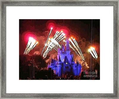 Watching The Fireworks Framed Print