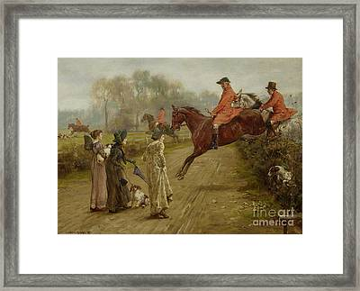 Watching The Hunt Framed Print