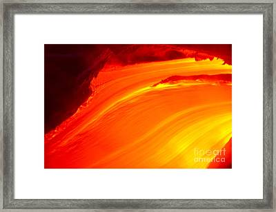 Watching The Lava Flow Framed Print by Erik Aeder - Printscapes