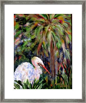 Watching The Marsh Framed Print by Marie Howell