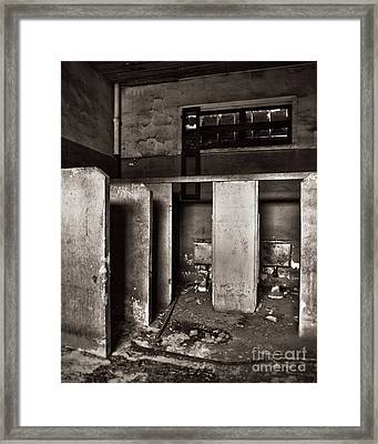 Watching The Paint Peel Framed Print by Royce Howland