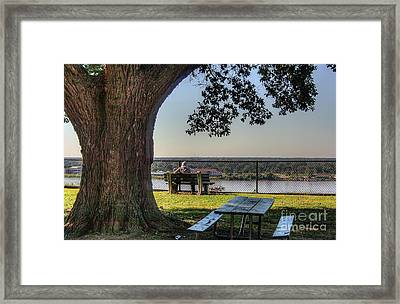 Watching The River Flow Framed Print by Larry Braun