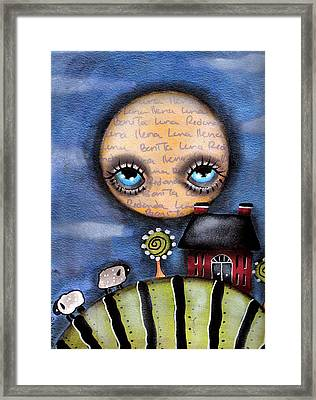 Watching The Sheep Framed Print by  Abril Andrade Griffith