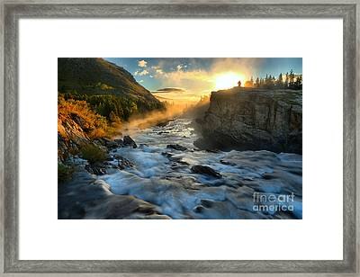 Watching The Sunrise Framed Print