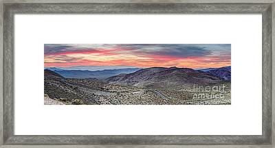 Watching The Sunrise From Dante's View - Black Mountains Death Valley National Park California Framed Print by Silvio Ligutti