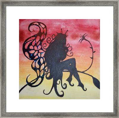Watching The Sunset Framed Print by Amy Lauren Gettys