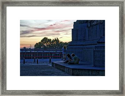 Watching The Sunset Framed Print