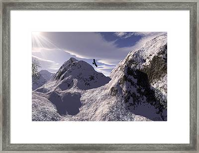 Watching Val D Framed Print by Emma Alvarez