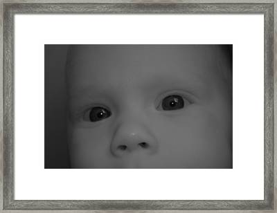 Watching Framed Print by Wesley Hanna
