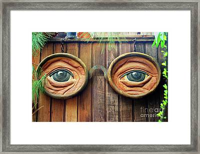 Watching You Framed Print by Mariola Bitner