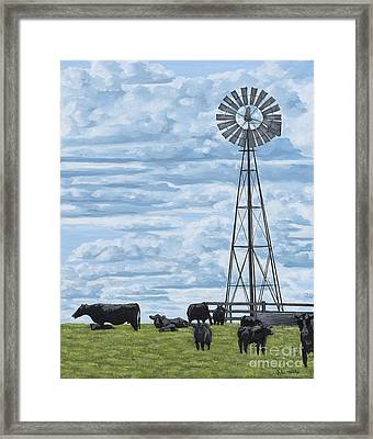 Watching You, Watching Me Framed Print by Julie Ethridge