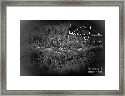 Framed Print featuring the photograph Watching You Watching Me by Karen Lewis