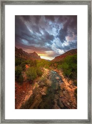 Watchman Lights Framed Print