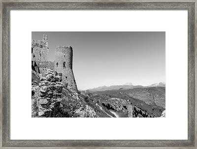 Watchtower On The Moon Framed Print by Andrea Mazzocchetti