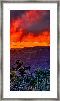 Watchtower Stormy Sunset Triptych Right Panel Framed Print