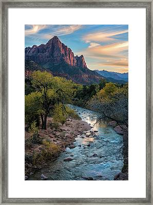 Watchtower Sunset - Www.thomasschoeller.photography Framed Print by Thomas Schoeller
