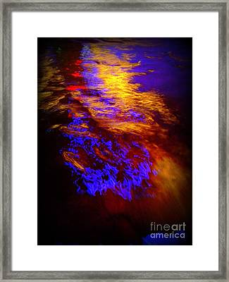 Water Abstract. Pittsburgh, Pa Framed Print