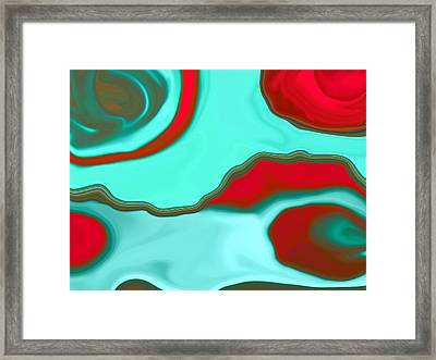 Water Abstract2 Framed Print by Linnea Tober