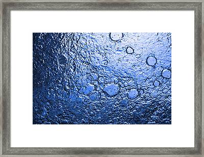 Water Abstraction - Blue Rain Framed Print by Alex Potemkin