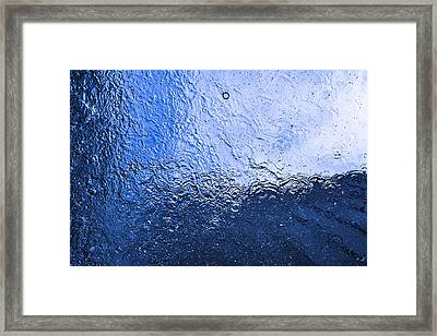 Water Abstraction - Blue Reflection Framed Print by Alex Potemkin