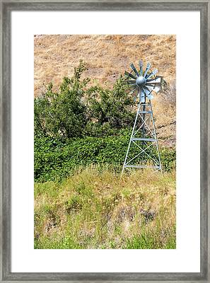 Water Aerating Windmill For Ponds And Lakes Framed Print