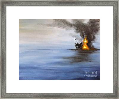 Water And Air Pollution Framed Print