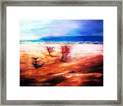Framed Print featuring the painting Water And Earth by Winsome Gunning