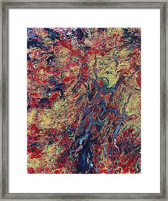 Water And Fire Mixing On The Edge Framed Print