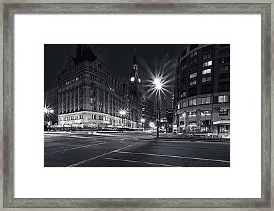 Water And Kilbourn Framed Print by CJ Schmit