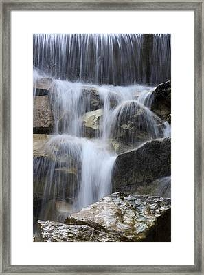 Water And Rocks Framed Print by Frank Tschakert
