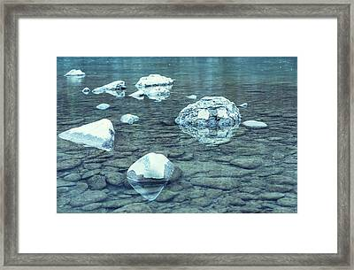 Water And Rocks Framed Print by Svetlana Sewell