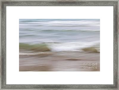 Water And Sand Abstract 4 Framed Print by Elena Elisseeva